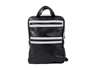 Black and white Leather Backpack