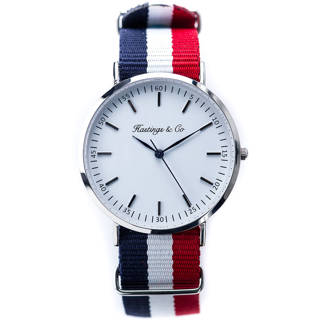 ed21f2f4b33 Silver Classic Edition Watch with a Red