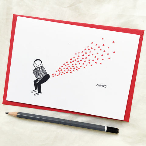 Fhearts - Greeting Card