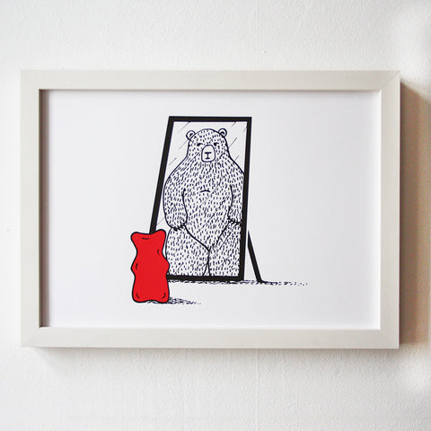 Gummy Bear Napoleon Complex - Limited Edition Screenprint