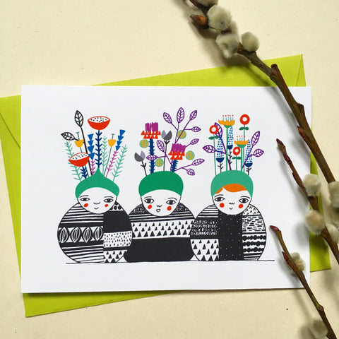 Spring Babies - Greeting Card
