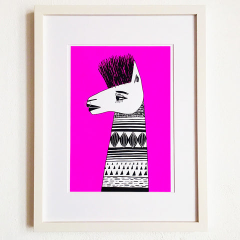 Llama Punk - Limited Edition Screenprint