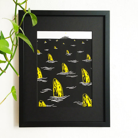 Banana Sharks - Limited Edition Screenprint