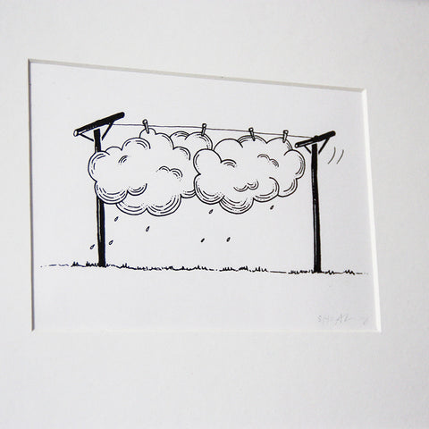 Hang Dry Clouds - Limited Edition Screenprint