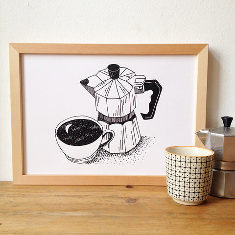 Morning Coffee - Limited Edition Screenprint