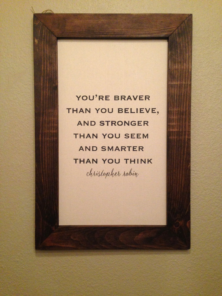 Vintage Canvas Quote - Christopher Robin