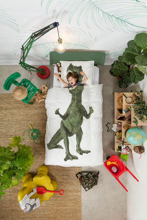 Dino Duvet Cover & Sham - Twin