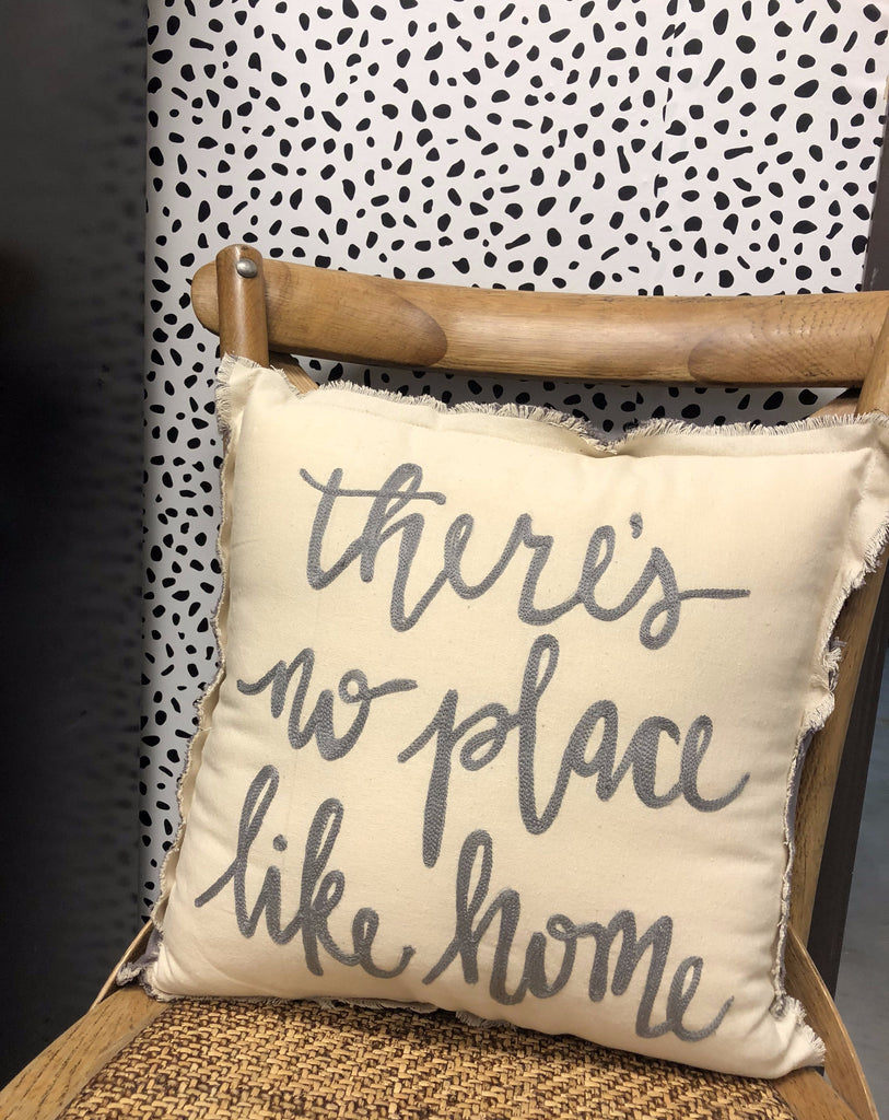 No Place like Home Fringe Pillow
