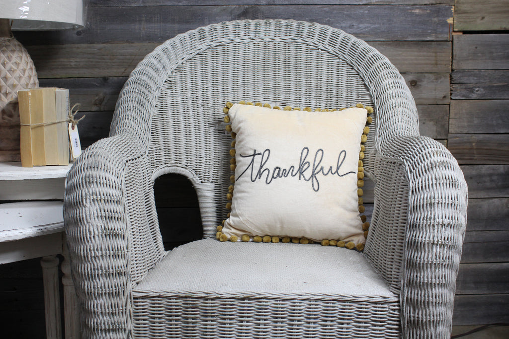 Thankful Pillow - Velvet