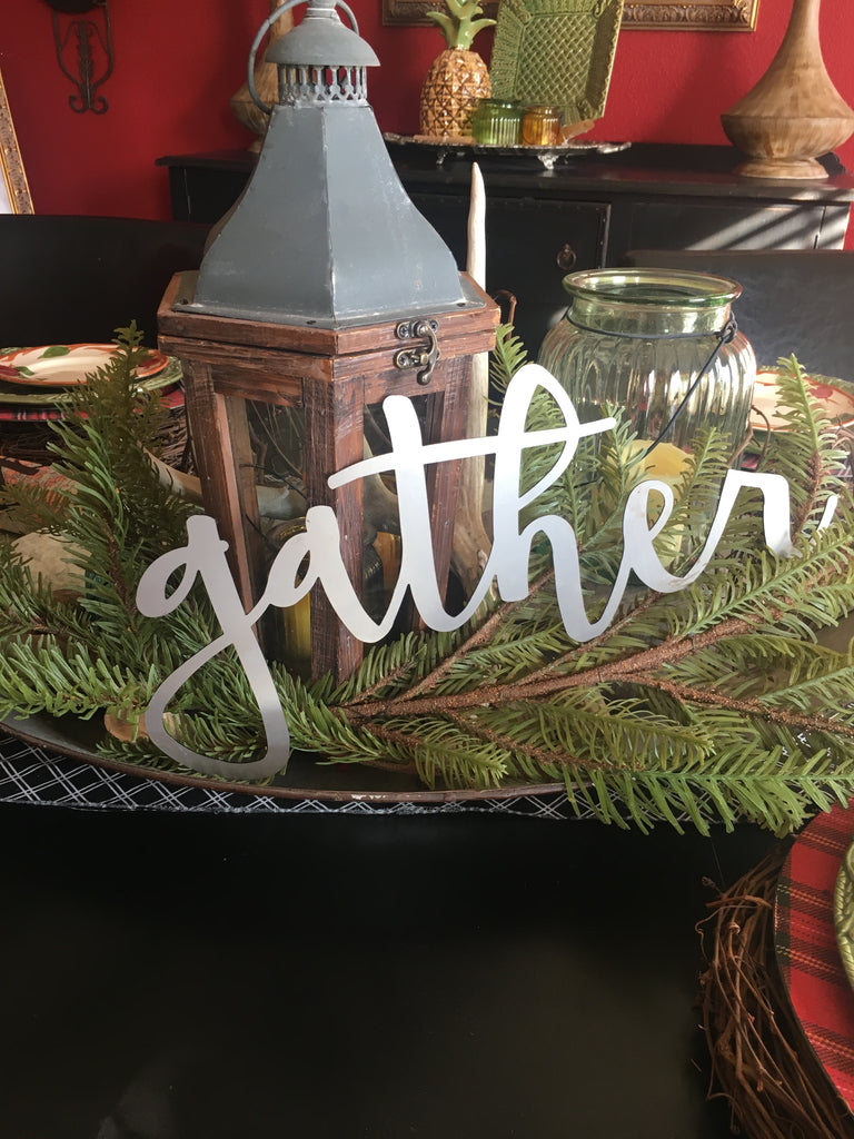 Metal Gather Cut Out