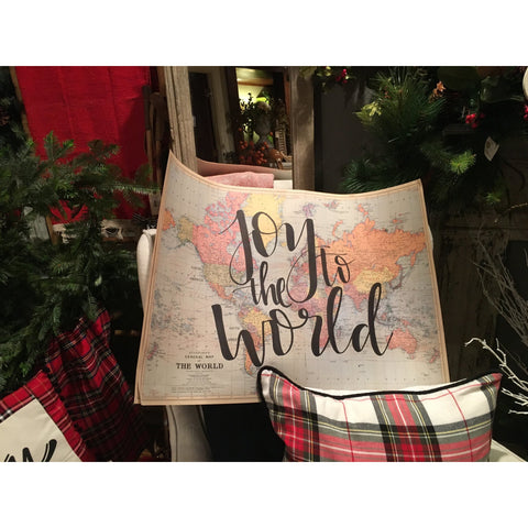 Joy To The World Handwritten Map