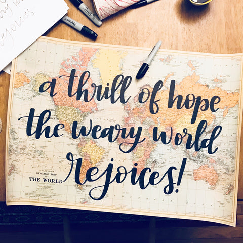 Thrill of Hope Handwritten Map