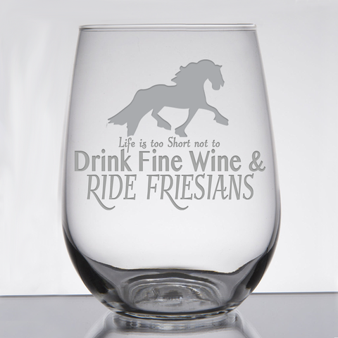 """Friesian Fine Wine"" - 21 oz. Stemless Wine  Glass"
