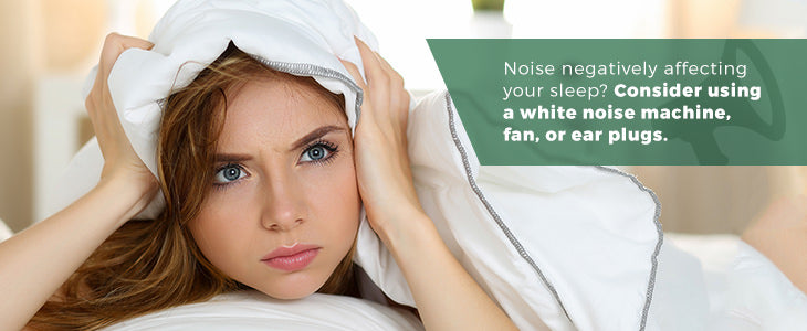 Noise negatively affects your sleep