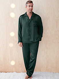 men's silk pajamas as a holiday gift