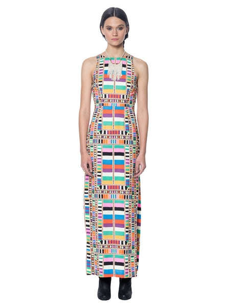 Cut Out Column Dress in Raiser Rainbow - Mara Hoffman