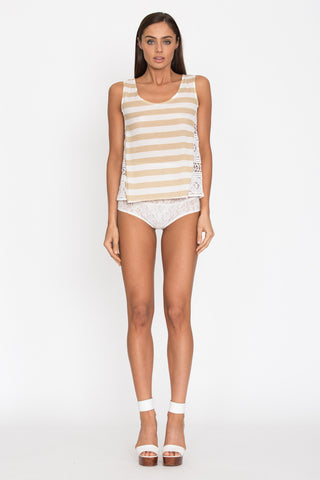 Kahala Tank in Stripe - Aila Blue