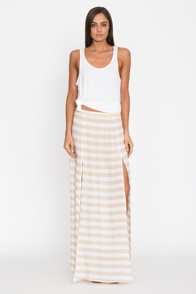 Pupukea Skirt in Stripe - Aila Blue