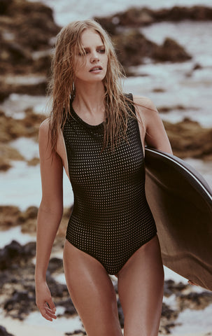 Cloud9 One Piece in Shadow Mesh - 2017 Acacia Swimwear