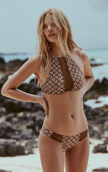Malibu Top in Daisy Block - 2017 Acacia Swimwear