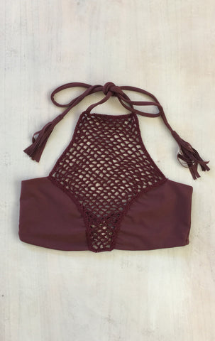 Panama Top in Merlot- 2017 Acacia Swimwear