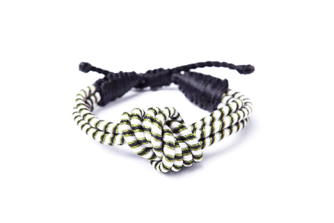 Love Knot Bracelet in Olive Green  - Sequence