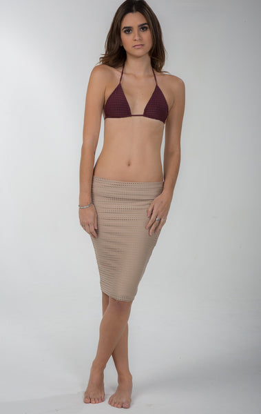 Umalas Skirt in Clay Mesh - 2017 Acacia Swimwear