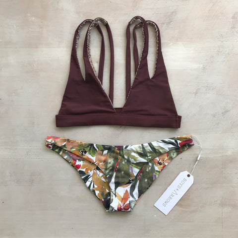 Plantation Top in Merlot - Acacia Swimwear