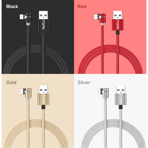 Image of Magnetic Micro USB Cable wih LED Light