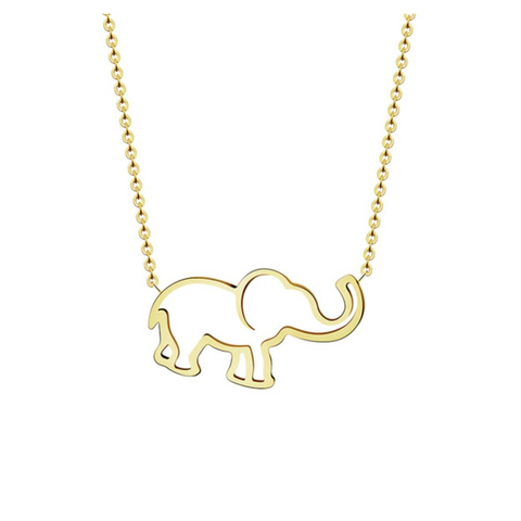 Image of Elephant Pendant and Chain