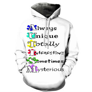 Define Autism 3D - Sweatshirt, Hoodie, Pullover-Support Autism Awareness Movement
