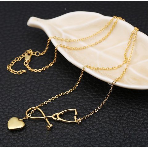 New Heart Shape Medical Professional Necklace