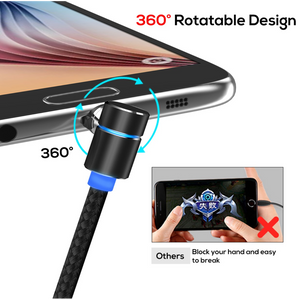 Magnetic Micro USB Cable wih LED Light