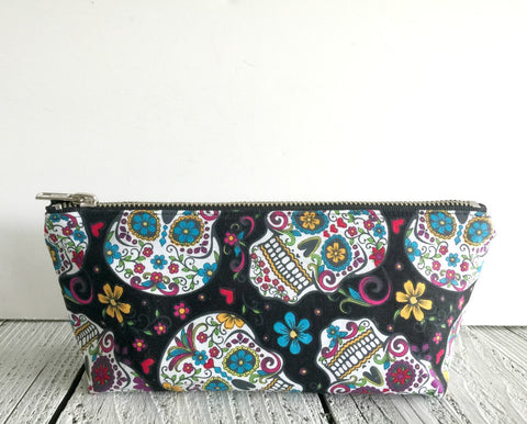Colorful Sugarskull Essential Oil Pouch