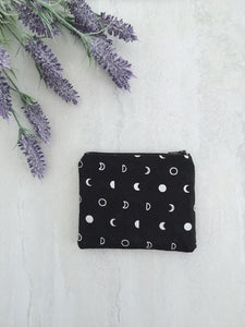 Mini Zip Pouch Moon Fabric