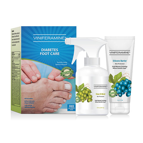 Diabetic foot care kit with clean n moist and silicone barrier