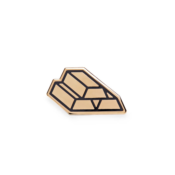 Gold Brick Pin