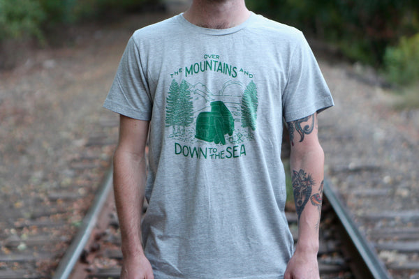 Iron and Resin Over the Mountains Tee