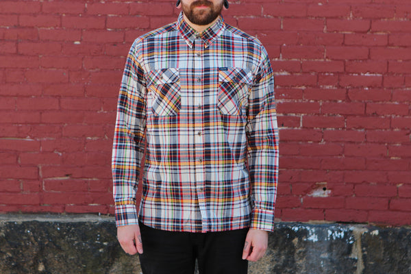 Crawford Denim Red Plaid Button Up