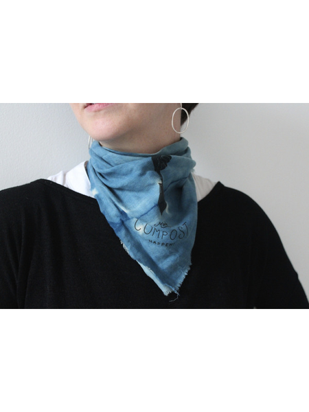 Mr. Fox x 1924 x Stitch Cotton Wool Shibori bandana