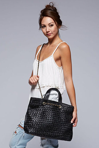 'No Weave Of Mine' Tote - Black