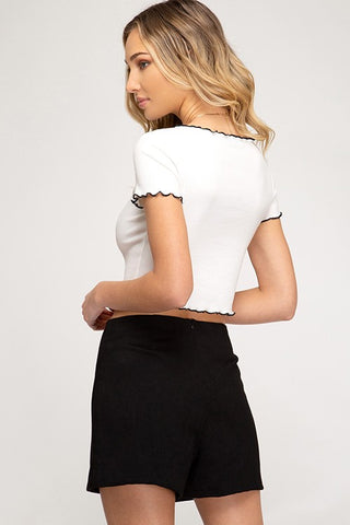 'Please Persuade Me Yes' Skort - Black