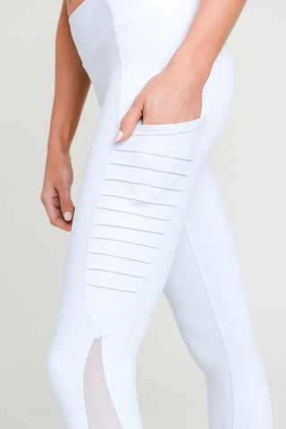 'Instagram Poser' Leggings - White
