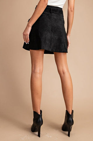 'Black Out' Skirt - Black