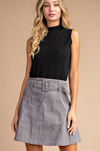 'Black Out' Skirt - Grey