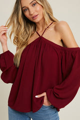 'Broken Hearted' Top - Wine
