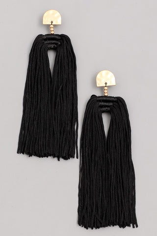 'Number One Fan' Earrings - Black
