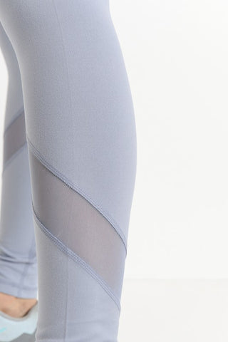 'Game Point' Leggings - Light Blue