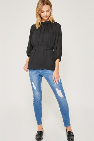 'Top Mock' Blouse