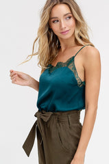'Evergreen Attitude' Cami - Hunter Green